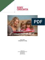 SUNY Oneonta Undergraduate Catalog 2014-2015