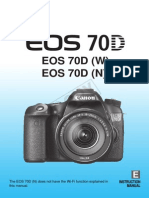 Canon EOS 70D Instruction Manual (English)