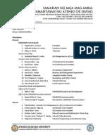 December 5, 2014 Report of Minutes