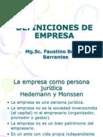050505 de Definiciones de Empresa