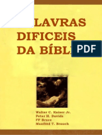 Palvaras Dificeis Da Biblia
