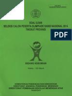Soal OSP Kebumian 2014