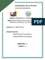 Sesion Educativa en Alto Puno Informe