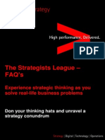Accenture Strategy - The Strategists League FAQs