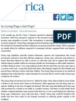 Is a Living Wage a Just Wage? | America Magazine