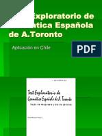 Test Exploratorio de Gramatica Española de A