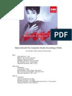 Tracklist Callas Complete Studio Recordings