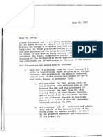 1973 letter from Hoving to Getty describing Getty's legal conditions