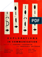 Exploration the Comunicatio - Marshall McLuhan