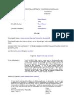 Form 2 Claim UCPR