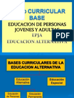 Diseño Curricular de Alternativa