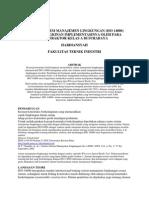 Analisa Sistem Manajemen Lingkungan