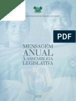 mensagem anual assembleia