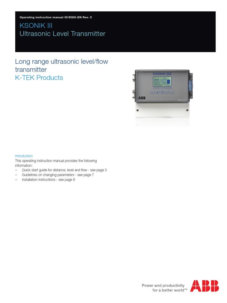 k tek level transmitter at200 manual