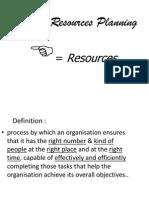 Human Resource Planning Ppt.