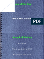 How to Write an Issue gre
