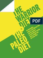 The Warrior Diet vs The Palio Diet