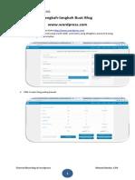 Langkah-langkah Buat Blog Di Wordpress