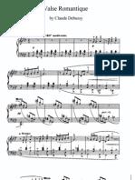 Debussy Valse Romantique