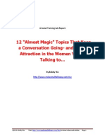 Attraction Magnets 12 Conversation Topics for Talking to Women
