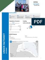 UNHCR Eritrea - Operation Fact Sheet - Dec 2014