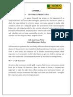 A Study of Hdfc Standard Life in Sagar City