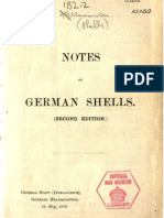 Notes on German Shells (1918)