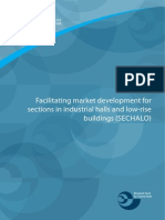 Facilitating market development for sections in industrial halls and low-rise buildings (Sechalo)