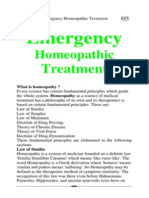 Emergency+Homeopathic+Treatment | Homeopathy | Alternative Medicine