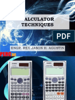 Calculator Techniques PERCDC