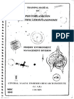 Training Manual on Phytoplankton Identification Taxonomy