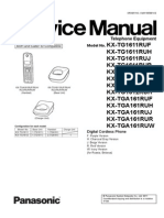 Panasonic KX-Tg16xx - Service Manual