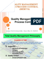 Topic 1 of 2 Quality Management & Process Control