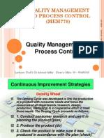 Topic 4 Continuous Improvement Strategies