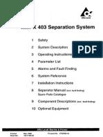 MMPX 403 Separator Manual