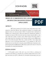 Design of an Error Detection and Data Recovery Architecture for Motion Estimation Testing Applications