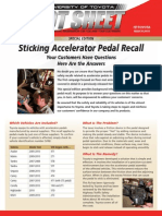10 03 HS Sticking Accelerator Pedal