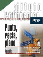 1102-14 Matematica Punto Recta, Plano