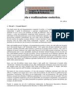 Fr. a.D.a. - Massoneria e Realizzazione Esoterica