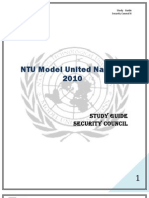 Study Guide Security Council II