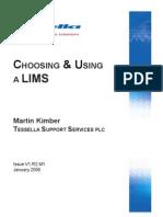 Choosing & Using a Lims