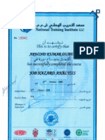 HSE Certificate-Zob Hazard Analysis