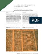 Estudo Histórico-textual Dos Pergaminhos UFRJ