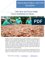 IMANI'S 2014 Best and Worst Public Sector Institutions in Ghana
