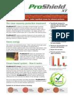 Proshield Xt water repellent masonry treatment