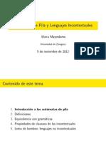 Aut´omatas de Pila y Lenguajes Incontextuales