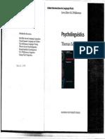 Psycholinguistics Thomas Scovel Pdf
