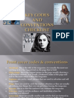 Task 13 Key Codes and Conventions