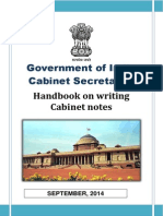 Cabinet Secretariat - Handbook on Cabinet Notes