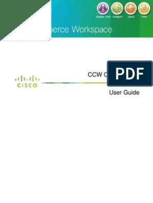 Cisco CCW Configuration User Guide | Hyperlink | Microsoft Excel